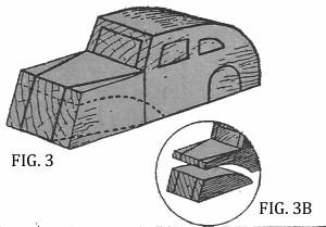 Come costruire un'AUTO DI LEGNO fig. 3 e 3B
