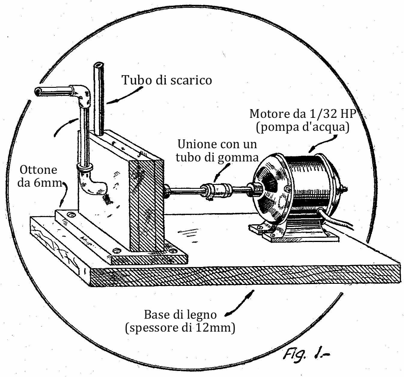 Come costruire una pompa d 39 acqua for Filtro acquario fai da te