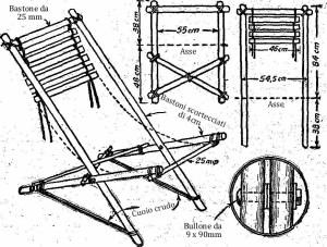 Come costruire una sedie pieghevole di legno per il giardino 3