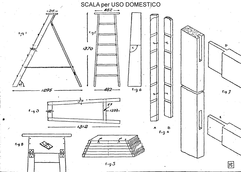Scale da pittore di legno come costruire una scala come for Escaleras altas plegables