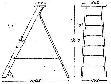 Scale da pittore di legno come costruire una scala come - Escalera de madera de pintor ...