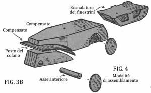 Come costruire un'AUTO DI LEGNO fig. 3B e 4