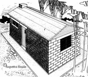 Come costruire una casa economica con blocchi di cemento 1